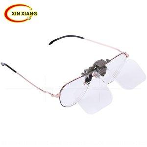 l3rZx gözlük akrilik Yaşlı büyüteç büyüteç optik lens HD yaşlı Kısa kelimeler okuma okuma 2 kez klip Kafa monteli