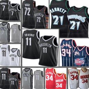 Черный 72 Biggie Кирие Кевин Гарнетт 21 Хаким 34 Olajuwon BrooklynNet Кевин Дюрант 7 11 Irving баскетбольное