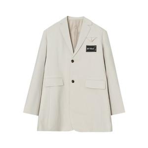 Masculino Japão Coreia Estilo Suit Jacket Casacos Men Streetwear Negócios Moda Vintage Casual solta Blazers Brasão Suit