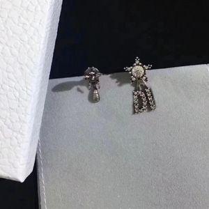 Charme boucles d'oreilles pour femme strass insecte boucles d'oreilles de haute qualité laiton 925 boucles d'oreilles argentées boucles d'oreilles de mode bijoux de mode