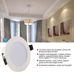 Practical E27 85V-265V Dimmable WIFI Smart Down Light Multi-functional Durable APP Phone Control Ceiling Lamp Bulb
