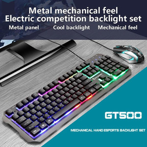 Tastiera Mouse Set Wired USB Gaming Set Computer Accessories professionale Wired Gaming Mouse e tastiera per PC Laptop Gamer