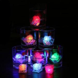 LED Luminous Ice Cube Colorful Flash Sensor Ice Cube For Christmas Party Bar Wedding Decoration Light