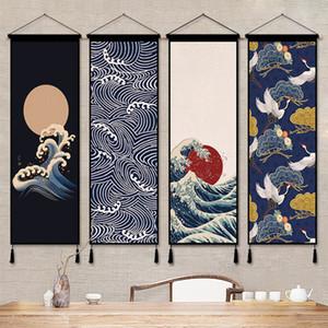 Duvar Kanvas Baskı Resimleri Duvar Sanatı Resimleri İçin Salon Dekoratif Halılar Boyama Goblen Çin Scroll Asma