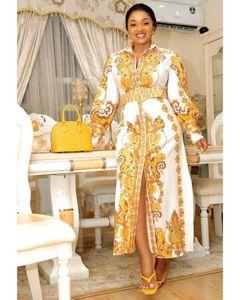 Платья лета женщин 2020 Длинные рубашки платье Printed Stretch Ткань Мода Женщины Robe Grande Taille Femme Robe Longue