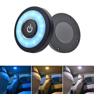 USB شحن الصمام أضواء المحمولة جولة عالمية قابلة للشحن اللاسلكي القراءة الداخلية لمس مصباح نوع السيارة الداخلية ليلة الخفيفة
