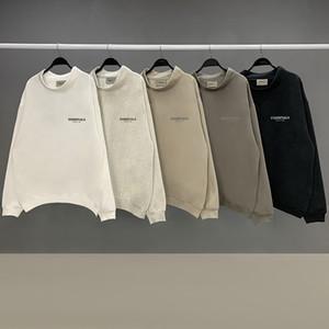 하나님 필수 후드 안개 스탠드 칼라 긴팔 티셔츠 스웨터 남성 여성 바지 거리의 패션 2020SS 공포 캐주얼 후드 풀오버 스웨터