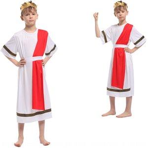 roupas de desempenho 8vDF9 Halloween tong li fu tong li fu formais faraó egípcio príncipe vestido de flor crianças vestido infantil 0134cos Pha