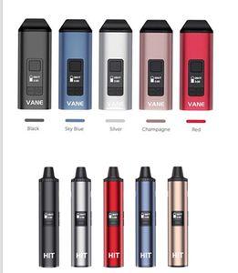Authentic Yocan Vane and Yocan Hit Dry Herb Vaporizer Kit Buit in 1100mah 1400mah battery OLED Display Ceramic Heating Vape Pen 5 Color