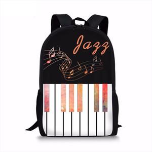 Noisydesigns Fashion 3D Piano Keyboard Music Note Printing Woman Men Backpacks Casual Laptop Rucksacks Travel Students Back Pack