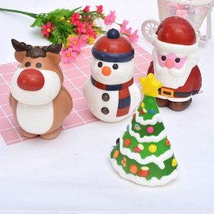 Kawaii Christmas Squishy Toy Santa Claus Snowman Xmas Tree Shaped Slow Rising Cream Scented Stress Relief Toy Novelty Gift Decor DBC VT1219