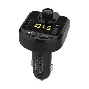 BT36 Bluetooth Car Kit manos libres transmisor de FM 3 .1a TF tarjeta de apoyo U disco Mp3 del coche Soporte de audio de carpeta jugador selector de función 50pcs / Lot