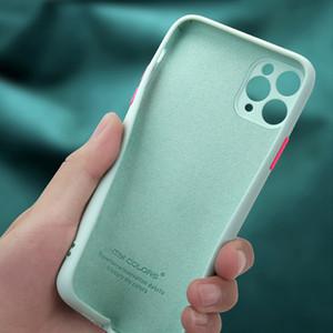 Luxo Telefone New Arrivals Moda para o iPhone 11 Cases Pro Max Original Plain Silicone Líquido Sólido Planície macia capa de capa mole