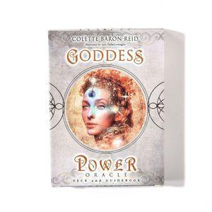 Tarot Parti Oracle Ve Full Oyun Kartları Güverte Kılavuzu Tanrıça Ailesinin 52pcs İngilizce Power Board tahkd mjhome