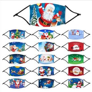 Navidad de la cara de Santa Boca máscara máscaras divertido anti-polvo de algodón hijos Mujeres Hombres Unisex Invierno MANERA calienta la máscara lavable