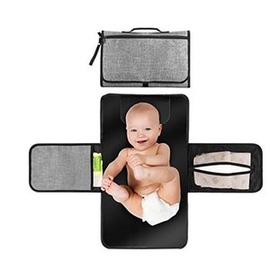 Portable Foldable Nappy Waterproof TPE Diaper Changing Kit for Home Travel Outside storage bag Baby Floor Mat