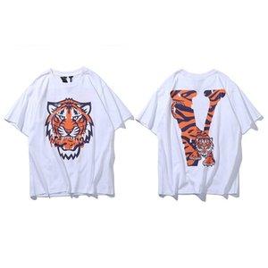 2020 Erkekler t shirt Yaz Moda Üst Bayanlar Kısa Gömlek Marka Giyim Harf Desen Baskı Yüksek Kalite Gevşek Hip Hop b2