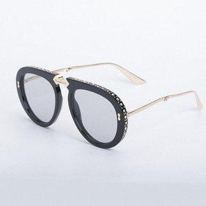 Роскошные Folding Frame солнцезащитные очки со стразами Декор Модельер Солнцезащитные очки Женщины Мужчины Большие рамки очки Скидка партии Су iYfi #