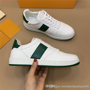 Chaussures de sport en cuir pour homme Mode Chaussures de sport en cuir véritable des hommes Baskets mode qualité Baskets basses Avec boite d'origine
