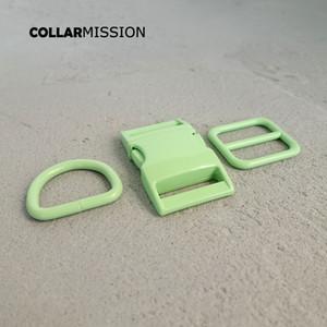 100pcs / lot (fibbia in metallo + regolazione fibbia + d anello / set) fai da te collare cane verde 25mm tessitura accessorio per cucire accessorio spray spray fibbia