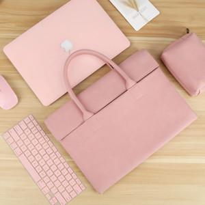 Laptop Bag per l'aria di Macbook 13 caso 12 13.3 14 15.6 pollici Donna Uomo borsa per HP Dell ASUS Huawei xiaomi Mac Pro 13 15 16 manicotto k700g