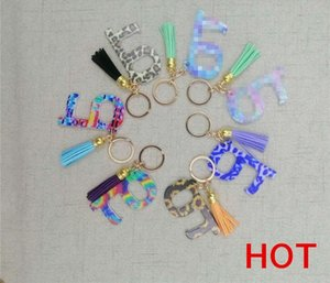 Design Safety Protection Isolation No Touch Opener Tassel Pendant Keyring Contactless Tool Non Contact Safety Door Handle Key Chain D7 75rD#