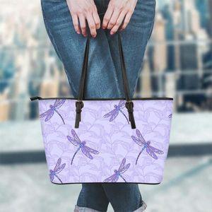 FORUDESIGNS libellule animal mignon Prints Mode Femmes Sacs À Main Mode Casual Grande Capacité Femme Tote Sacs à bandoulière Sac à main