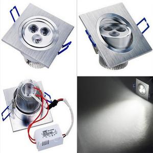 2adet 6W 3X2W LED Tavan Işık Kare Gömme İç Lamba Gömme Spot Spot Işık 540LM 85-265V 120degree Sıcak / Soğuk beyaz Işıklar
