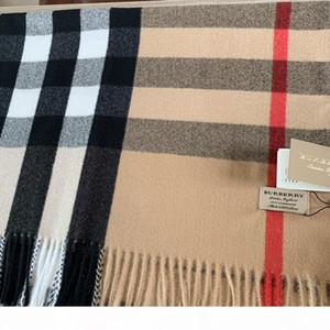 С Box Bag 200 * 70см Mens женщин Роскошные дизайнерские ШАРФЫ Платки 2019 Winter Fashion High End Классический Check Blanket шарфы кашемира шарф