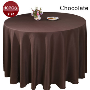 Wholesale All Size Seamless Tablecloth Polyester Rectangular Square Round Wedding Party Banquet Hotel Home Decor Table Cloth
