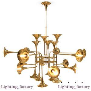 / 16/24 Delightfull Botti Asma Işıklar Altın Avize Süspansiyon Lambalar Trompet kolye 12 Kafa Yemek Salon Restoran