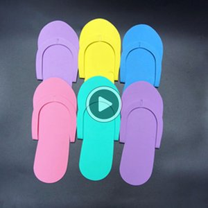 Ceapest !!! Disposale Schaum Pedicure Slippers Süßigkeiten Farbe eac Flip Flop Salon Pedicure Fußbäder Separatoren Nails Art eauty Slipper Mark
