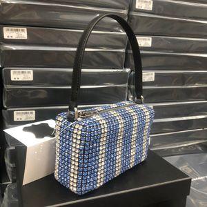 2020 WANG alta qualità hobo hobo del progettista tote di cristallo di diamante delle donne borse borse famose catena della spalla Crossbody Bag Soho Disco Bag