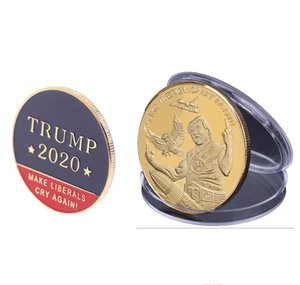 Badge Coin President Donald Election Commemorative Usa Make Again 2020 Supplies Libery Cry Trump sweet07 qjqUh