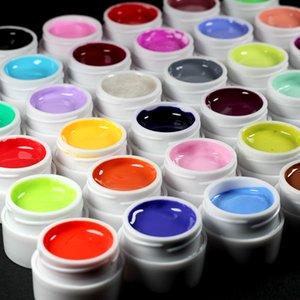 LNWPYH 36 couleurs pures Gel UV Vernis à ongles Conseils couverture pure fine brillant française manucure outils de gel de vente à chaud