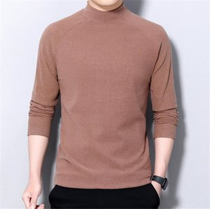 2020 Autumn Solid T Shirts Mens Color Clothing Sleeve Tops New Casual Knitted Designers Men Long Sweatshirt Igfou