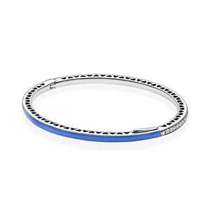 NUEVO 100% 925 Pulsera de SMALTO AZUL CIRCONF 590537EN82 Pandora Braceler encanto de la joyería de Pandora original regalos determinados