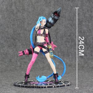 Jinx The Loose Cannon Standing Ver. Action Figure 1 6 scale painted figure Jinx Doll 008 PVC Game figure Toy Brinquedos