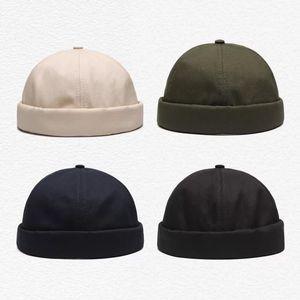 cappelli Designer Uomini senza tesa Calotta Vintage Unico Via Cappello Docker portatile multiuso Miki Beanie mens tappi di moda 2020