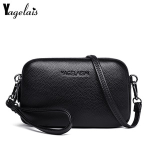 Fashion Women's Bags Genuine Leather Simple Solid Handbag Small Shoulder Bags Female Crossbody Messenge Bags Lady Phone Purses CX200813
