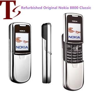 Réformé Nokia 8800 Téléphone portable Mobile 2G GSM tri-bande déverrouillé classique 8800 russe clavier arabe 3 couleurs