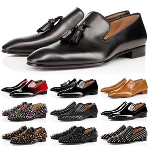 erkek ayakkabıları elbise kırmızı dipleri moda erkek ayakkabıları sıçramalarını makosenler Matt Rugan Süet Yuvarlak Ayak parmakları düğün Boyut 39-47