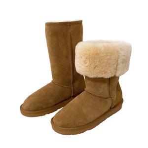 Haut Barrel 5815 Mouton fourrure intégré neige femmes bottes chaudes d'hiver bottes de neige épaissie Livraison gratuite