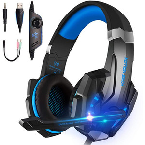 G9000 Gaming Headset Casque Deep Bass Stereo Game Headphone with Microphone LED Light for Phone Laptop PC Gamer
