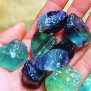 1pcs bunte natürliche Fluoritkristall Gestreifte Fluorit-Quarz-Kristall Stone Point Heilstab Behandlung Stein