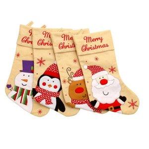 Kolye Merry Christmas Dekorasyon Ev Partisi Süsler Yaratıcı hediye YYA383 Asma Noel çorap Şeker Hediye Çanta Noel Ağacı