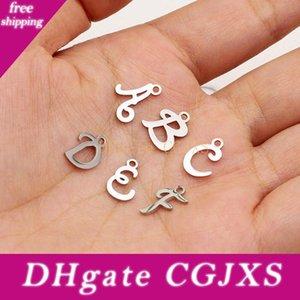 Charms initiale en acier inoxydable 26 Lettres anglaises Alphabet charme pour Femmes Hommes Accessoires Diy Bijoux Faire 10piece / Lot