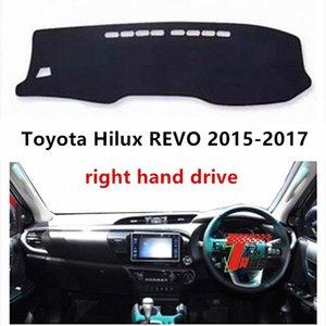 Taijs Hand Drive Tableau de bord droit voiture couverture pour Hilux REVO 2015 2017 Tableau de bord de protection Dacron Auto Mat Pour Hilux REVO GesX #