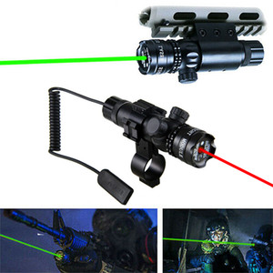 HQ Outdoor Tactical Sight Green Laser Rifle Dot Scope CQB Training + Remote Swith+Picatinny Rail+Barrel Mounts Aluminum alloy FREE