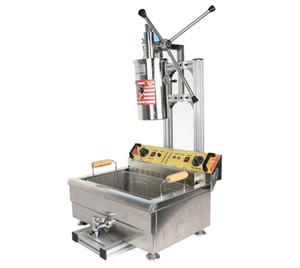 Commercial Churros avec Fryer populaire espagnol Manuel 5L Snack Churro Machine et 30L grande capacité électrique Fryer Espagne Petit Beignets Equipm